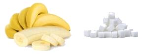 כמה סוכר יש בבננה?