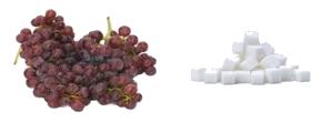 סוכר בענבים