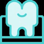 אייקון של שן כחולה